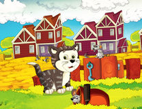 Cartoon farm illustration with optional framing Royalty Free Stock Photography