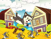Cartoon farm illustration with optional framing Royalty Free Stock Photo