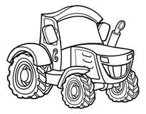 Cartoon Farm Tractor Royalty Free Stock Photo