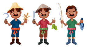 Cartoon farmer  Stock Images
