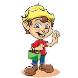 Cartoon Farmer Character with bag Royalty Free Stock Photography