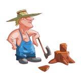 Cartoon farmer or redneck Royalty Free Stock Photos