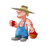 Cartoon farmer or redneck Stock Photography