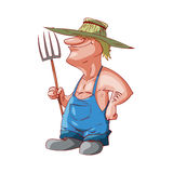 Cartoon farmer or redneck Stock Images