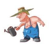Cartoon farmer or redneck Royalty Free Stock Photo