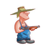 Cartoon farmer or redneck. Colorful vector illustration of a cartoon farmer or redneck Royalty Free Stock Images