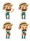 Cartoon Farmers Royalty Free Stock Photo