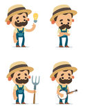 Cartoon Farmers Royalty Free Stock Photo