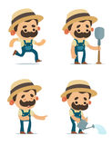 Cartoon Farmers Stock Photography