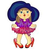 Cartoon fashion kid. Stock Photo