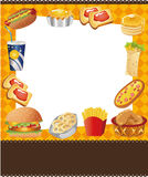 Cartoon fast food card royalty free illustration