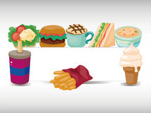 Cartoon fast-food card Stock Image