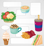 Cartoon fast-food card Royalty Free Stock Photo