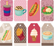 Cartoon fast-food card Stock Photo