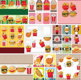 Cartoon fast food card Royalty Free Stock Photo