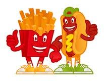 Cartoon fast foods vector illustration