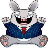 Cartoon Fat Aardvark Suit Stock Images