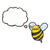 Cartoon fat bee Stock Photography
