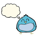 Cartoon fat bird with thought bubble Royalty Free Stock Photos
