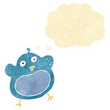 Cartoon fat bird with thought bubble Royalty Free Stock Images