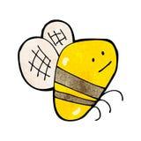 Cartoon fat bumble bee Stock Photography