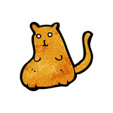 Cartoon fat cat Stock Photography