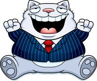 Cartoon Fat Cat Suit Royalty Free Stock Image