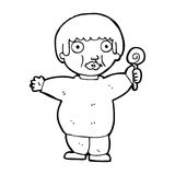 Cartoon fat child Royalty Free Stock Photos