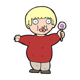 Cartoon fat child Stock Images