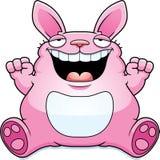 Cartoon Fat Easter Bunny Sitting Stock Image