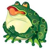 Cartoon fat frog vector illustration