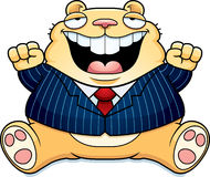 Cartoon Fat Hamster Suit Royalty Free Stock Photos