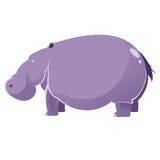 Cartoon fat Hippopotamus Stock Photo