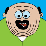 Cartoon fat man. Illustrated fat man with open mouth Stock Images