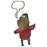 Cartoon fat man talking Stock Photos