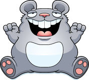 Cartoon Fat Mouse Sitting Royalty Free Stock Image