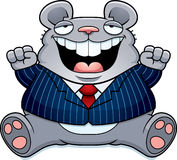 Cartoon Fat Mouse Suit Royalty Free Stock Photo