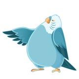 Cartoon fat parrot Royalty Free Stock Photos