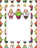 Cartoon Fat people card Stock Photos