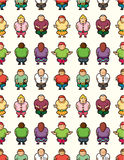 Cartoon Fat people seamless pattern Stock Image