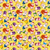 Cartoon Fat people seamless pattern Stock Photos
