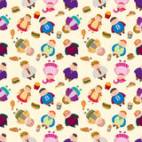 Cartoon Fat people seamless pattern Royalty Free Stock Photo