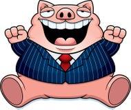 Cartoon Fat Pig Suit Stock Photo