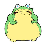 Cartoon fat toad Royalty Free Stock Image
