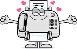 Cartoon Fax Machine Hug Royalty Free Stock Images