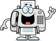Cartoon Fax Machine Idea Stock Images