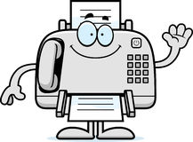 Cartoon Fax Machine Waving Royalty Free Stock Images