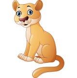 Cartoon feline isolated on white background. Illustration of Cartoon feline isolated on white background Stock Images