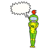 cartoon female astronaut Royalty Free Stock Images