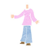 Cartoon female body (add photos or mix and match cartoons) Royalty Free Stock Photo